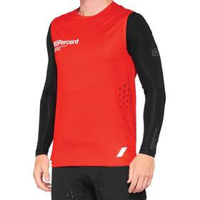 100% R-Core Sleevless Jersey Men, czerwony